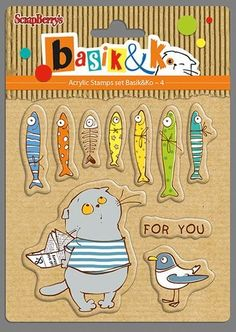ScrapBerry's Set Of Clear Stamps 10,5x10,5 cm Basik For You (SCB4903004)