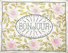 Bonjour Embroidery Sampler – FRENCH GENERAL