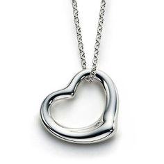 Petite Open Heart Necklace - a sterling silver necklace   #Inspiredvday #xoxoinspiredsilver