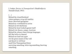 poetry about namaqualand - Google Search