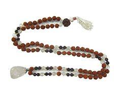 Yoga Japa Mala Rudraksha Amethyst Crystal Prayer Mala (108+1) - Wisdom Mogul Interior http://www.amazon.com/dp/B00P25DYEM/ref=cm_sw_r_pi_dp_8uavub0YSZ8D0