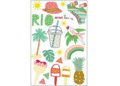 Sommerliche 'Rio' Tattoos
