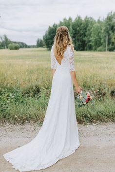Fotograf:Matilda Söderström Photography/ Brudklänning: Saga, By Malina