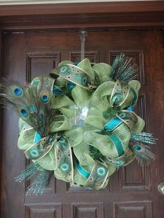 Peacock wreath- DIY Omg angel you have yo make this!