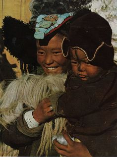 Tibetan woman and her child