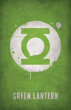 Green Lantern Minimlist Poster - West Graphics