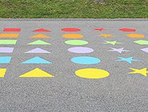 Fight Childhood Obesity In Your Community With Fun And Innovative - Playground stencils