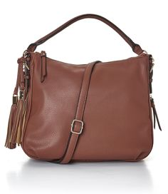 This leather-like hobo bag is the perfect size and fashionable choice for all your daily storage needs. Beautiful Handbags, Hobo Bag, Tassels, Shoulder Bag, Leather, Fall, Fashion, Cute Purses, Autumn