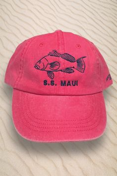 e91883125de86 Black seabass fishing hat. I was able to choose my own styles and colors.