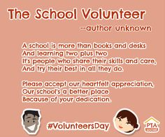 Let's celebrate #VolunteersDay by sharing this lovely poem showing our appreciation.