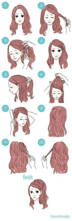 Coiffure facile pour l école ou toute occasion – Frisuren 2019 Trendy Hairstyles, Braided Hairstyles, Drawn Hairstyles, Step By Step Hairstyles, Ponytail Hairstyles For Prom, Simple Elegant Hairstyles, Two Buns Hairstyle, Easy Vintage Hairstyles, Braids Step By Step