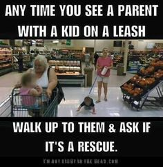 Kid leashes always make me chuckle.