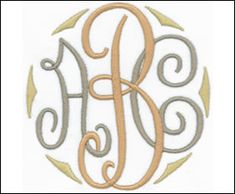 Royal Monogram Set    Left  2 1/8 inch high letters (57mm)   1 color   (AL0801A-Z)   stitch count: 1,250 - 2,380     embroideryarts.com    Middle  3 1/2 inch high letters (89mm)   1 color   (AL08012A-Z)   stitch count: 1,725 - 3,595     embroideryarts.com    Right  2 1/8 inch high letters (57mm)   color   ()   stitch count: 1,250 - 2,380