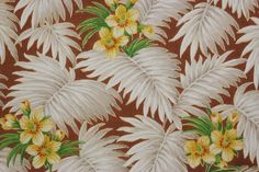Rosie's Vintage Wallpaper - Yellow Flowers with White Leaves Vintage Wallpaper, $95.00 (http://www.rosiesvintagewallpaper.com/yellow-flowers-with-white-leaves-vintage-wallpaper/)