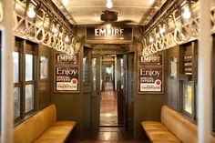 Vintage Subway Cars In New York City