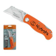 Kubota Folding Lock-Back Utility Knife Landscaping Equipment, Lawn Equipment, Snow Removal Equipment, Work Site, Snow Plow, Utility Knife, Kubota, Ontario, Construction