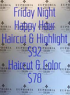 @EuphoriaSalonNashville is hosting Friday Night HAIR Happy Hour! 615.739.6966 to schedule! #EatShopNewDoBerryHill