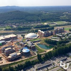 Liberty University's campus continues to transform! University Dorms, Liberty University, University Logo, College Campus, College Fun, Dream School, College Planning, Law School, Baseball