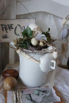 Ostern in der Kaffeekanne.... von Hoimeliges..... auf DaWanda.com