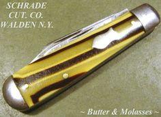 Antique Schrade Cut Co Walden NY Butter Molasses Vintage Pocket Jack Knife Knives And Swords, Knifes, Orange County, Weapons, Butter, Pocket, Antiques, Vintage, Knives