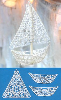 Dreamer's Sailboat (Lace) | Urban Threads: Unique and Awesome Embroidery Designs