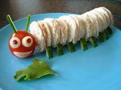 Alice in Wonderland - Caterpillar sandwiches