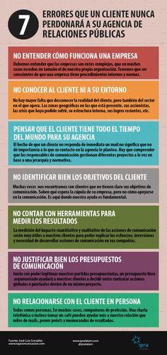 7 errores que cliente no perdona a una agencia de #RelacionesPúblicas