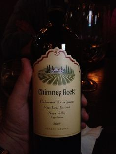 Chimney Rock's 2008 Stag's Leap Cabernet Sauvignon    Consistently outstanding year-to-year, the 2008 vintage does not disappoint. Luscious aromas of cherry and big cherry flavors upfront with the classically Napa Valley cabernet flavorings, accompanied by a nice, long and clean finish.   While Robert Parker has this at a 91, I think it bears a slightly better review more consistent with previous year's average scores (92-95).  $$ / ++