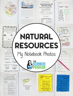 Take a look at photos of my interactive science notebook for natural resources and alternative energy!