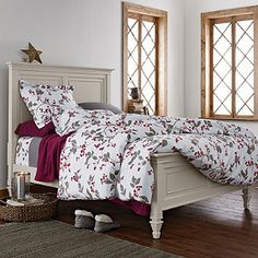 Winter Vine Flannel Duvet Cover and Sham - The Company Store