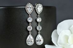 Hey, I found this really awesome Etsy listing at https://www.etsy.com/listing/96958107/bridal-earrings-cubic-zirconia-ear-posts