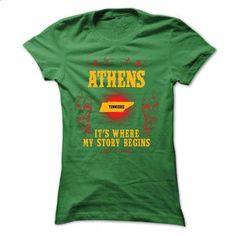 Athens - Its where story begin - #softball shirt #hoodies. SIMILAR ITEMS => https://www.sunfrog.com/Names/Athens--Its-where-story-begin-Green-70113830-Ladies.html?68278