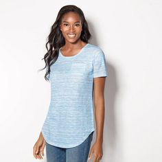 of Versatile Tees in Misses- Shop with your Avon Representative online Avon Fashion, New Fashion, Fashion Online, Womens Fashion, T Shirts For Women, Clothes For Women, Ladies Clothes, Wardrobe Basics, Latest Trends