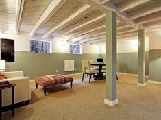 How to Finish Your Basement and Basement Remodeling Finishing your basement can almost double the square foot living space of your home. A finished basement can include new living space such as a r… Basement Ceiling Options, Open Basement, Basement Lighting, Basement Layout, Basement Walls, Basement Bedrooms, Basement Flooring, Basement Ideas, Ceiling Ideas