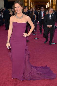 Jennifer Garner en la alfombra roja de los Oscar 2013