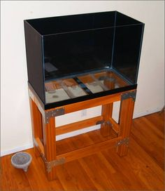 """stand build in """"raw industrial"""" style. - DIY Aquarium Projects - Aquatic Plant Central"""