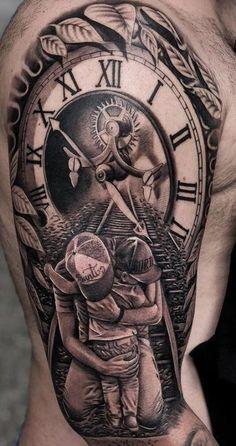 Time Hand Tattoos for Men . Time Hand Tattoos for Men . Hand Tattoos, Tattoos Arm Mann, Forarm Tattoos, Best Sleeve Tattoos, Tattoo Sleeve Designs, Forearm Tattoo Men, Tattoo Designs Men, Body Art Tattoos, Clock Tattoos