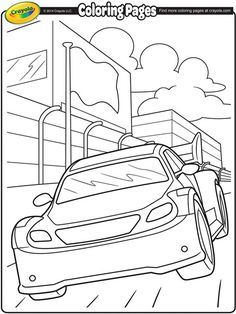 Check Out This Awesome Race Car Coloring Page