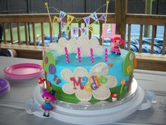 Lalaloopsy Cake - Lalaloopsy Cake for my daughters birthday.