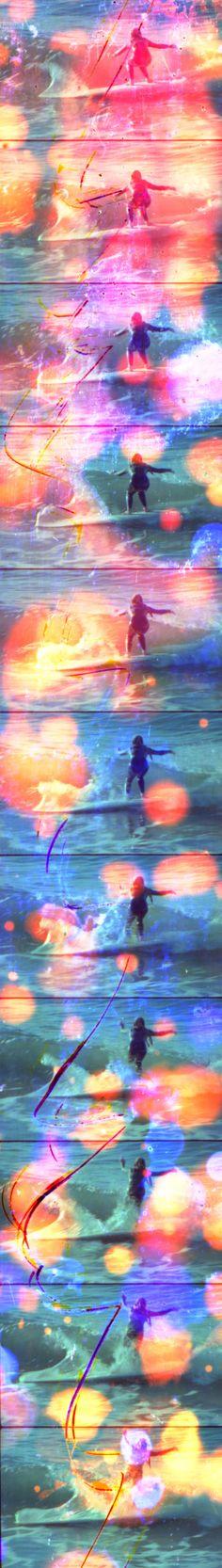 Jennifer West - Dawn Surf Jellybowl Filmstrip 2  2011 Archival inkjet print 221 x 36 cm