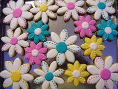 flores de galleta decorada para mama