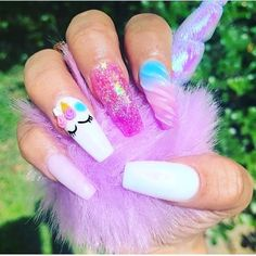 Many people have a passion for unicorn nails. And Unicorn nails are becoming a unique trend. If you think you have a different opinion, you should take a closer look at this list of Unicorn nail designs right away. We are convinced that even those w Unicorn Nails Designs, Unicorn Nail Art, Cute Nails, Pretty Nails, My Nails, Acrylic Nails Natural, Nail Art Designs, Nail Art Halloween, Rainbow Nails