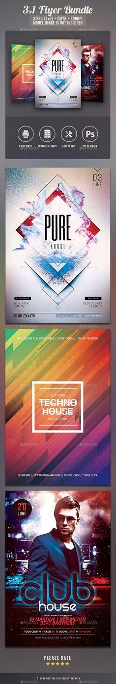 Growth Church Marketing Flyer Template Bundle Flyer template - promotional flyer template