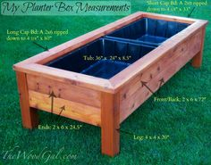 Cedar Planter box how-to. Involves pocket-holes but we can get around that.