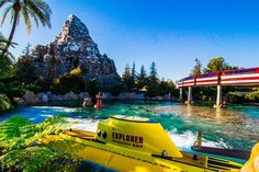 Want to get awesome iconic shot? At the exit of the Monorail, you can get a great shot of the Matterhorn, Finding Nemo Submarines, and the M...