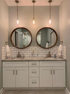 Modern Farmhouse, Rustic Modern, Classic, light and airy master bathroom design some ideas. Bathroom makeover ideas and bathroom remodel some ideas. Bad Inspiration, Bathroom Inspiration, Bathroom Inspo, Bathroom Ideas, Bathroom Organization, Bathroom Storage, Bathroom Designs, Backsplash Ideas Bathroom, Bath Ideas