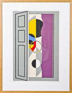 Sam Vanni: Sommitelma, 1988, litografia, 58x38 cm, edition 21/75 - Hagelstam A132