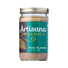 Artisana Organic Raw Almond Butter is a creamy, protein-rich spread for sandwiches and snacks. It's made in small batches with 100% organic ingredients.