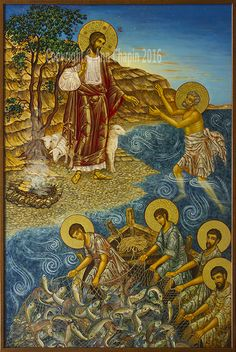 Here are a set of images from a couple years ago that are some details of the icon of Christ meeting some of his disciples by the sea from John Chapter 21.  This is the scene where St. Peter, under…