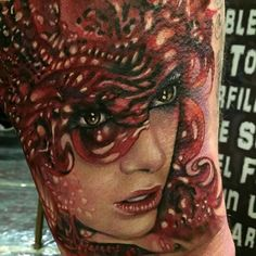 Liz Cook portrait tattoo